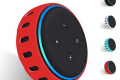 Hydream Custodia in Silicone per Amazon Echo Dot 3a Generazione - Altoparlante Intelligente con Integrazione Alexa, Leggera Antiscivolo Morbido Antiurto Supporto Protettivo Custodia Cover (Rosso)