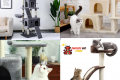 Complete multi-level tree for cats and dogs. With tower pulls scratches and berths!